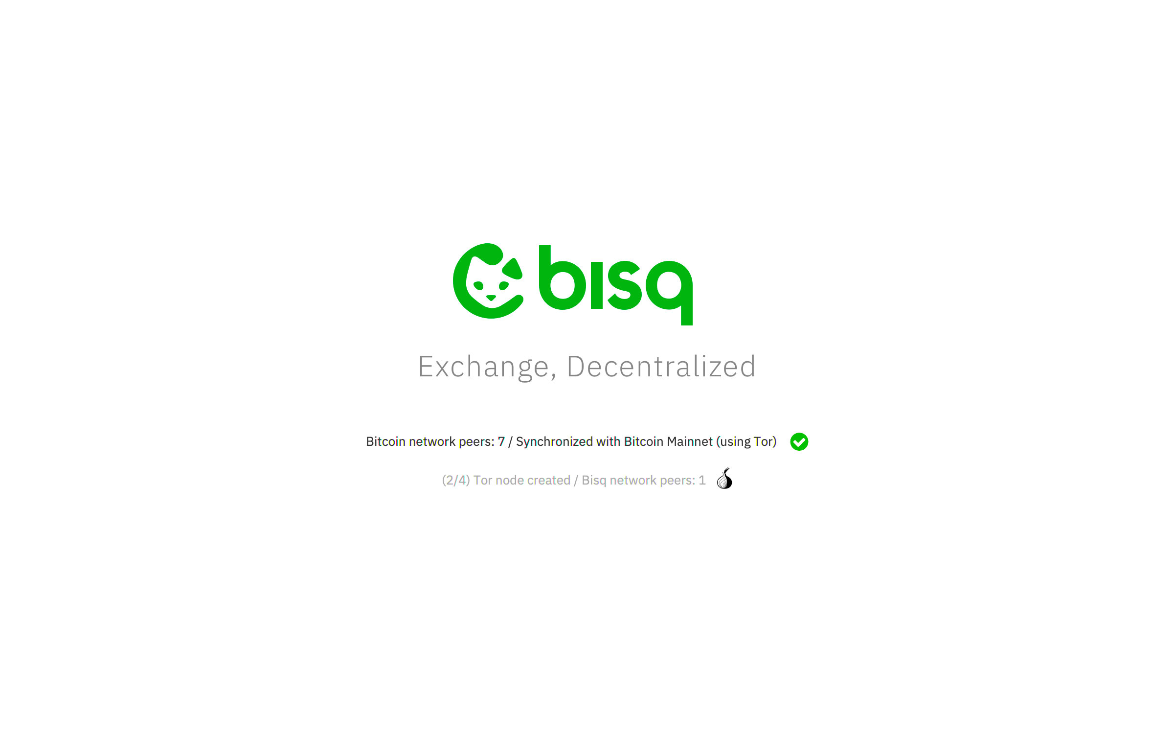 Offer Book view inside Bisq