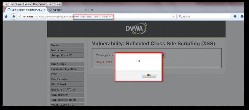 Alert response in browser
