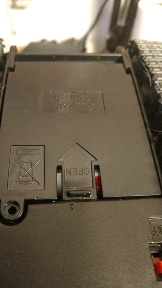 Battery compartment closed