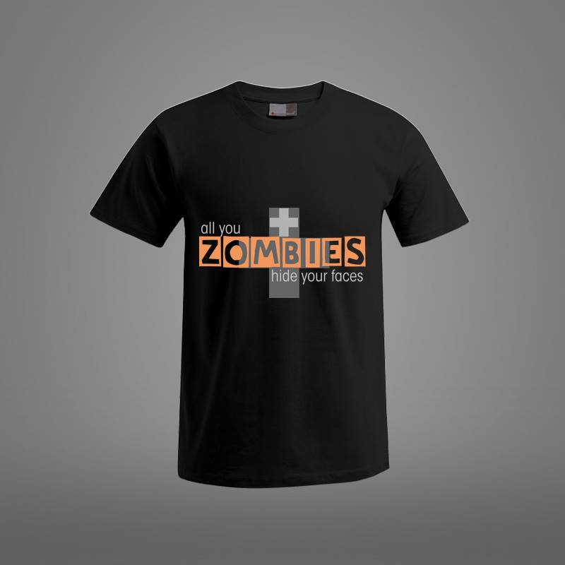 camiseta personalizada zombie