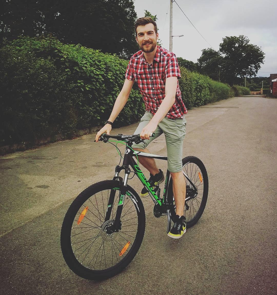 Jon on his new bike