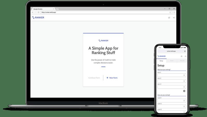 Ranker App Website