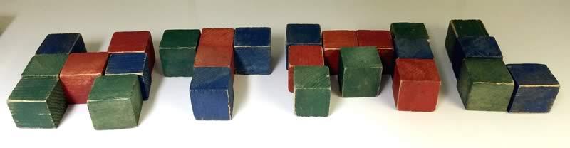 Wooden blocks spelling HTML