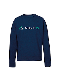 NuxtJS Sweatshirt Black Heather Blue