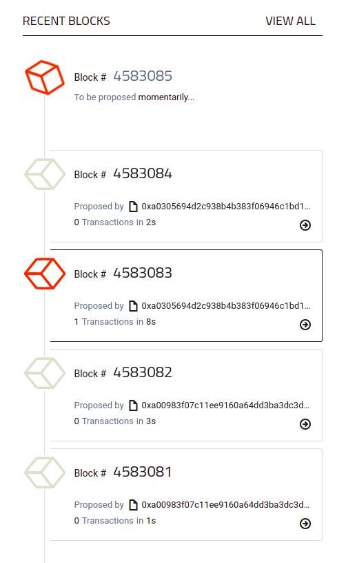 Recent Blocks