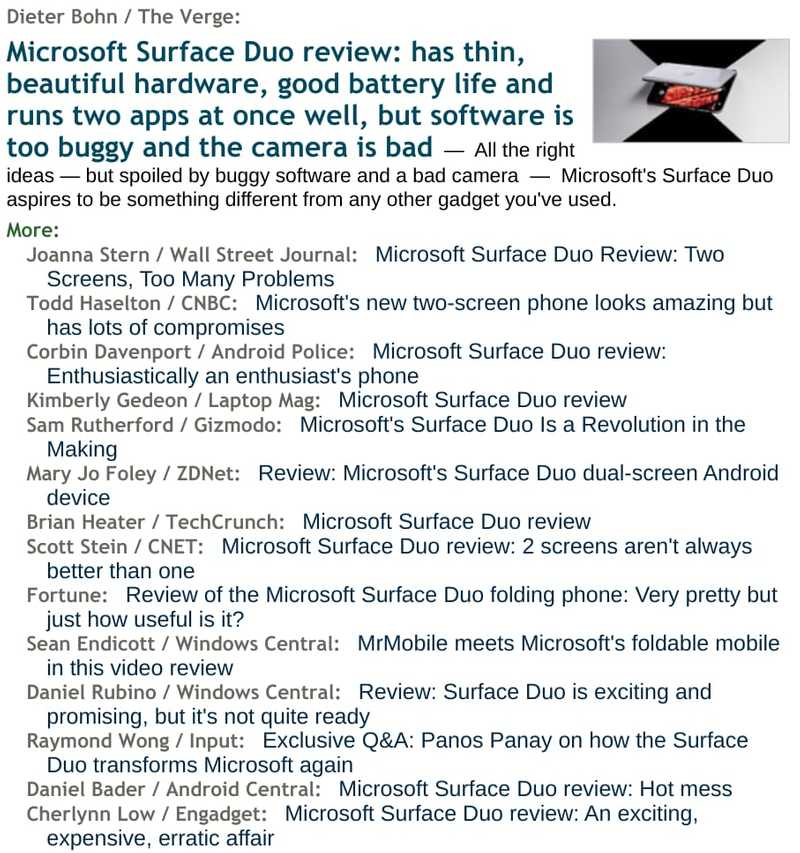 surface duo reviews