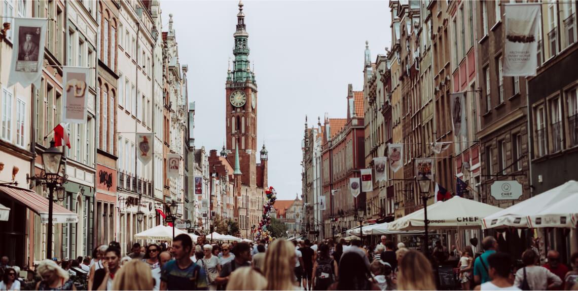 European tourist destination