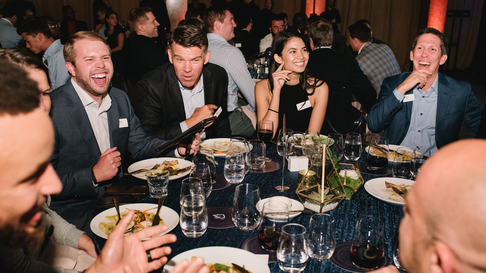 (Pictured: Stephen Curry, Jeff Lawson of Twilio, Matt Langdon of Sketch, Melanie Perkins of Canva, Steve Miller of Bank of America Merrill Lynch, Kurt Rathmann of ScaleFactor, and Rachel Carlson of Guild Education at The 2019 Cloud 100 Celebration)