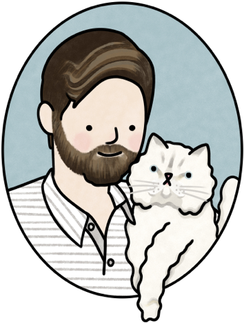 Illustration of me and my cat