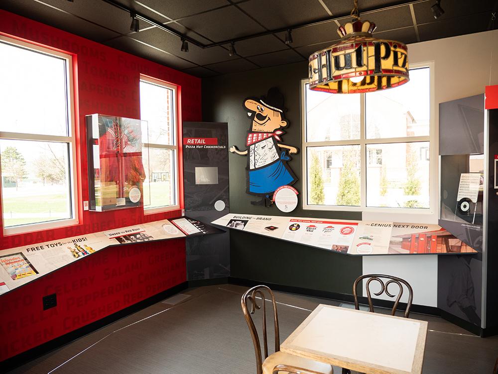 Pizza Hut Museum reader rails