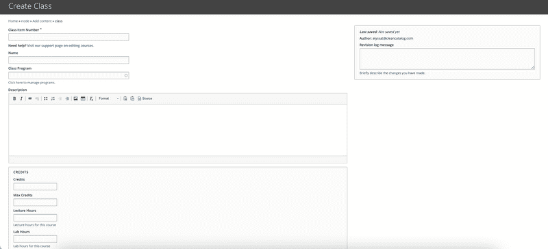 creating a new course from a template
