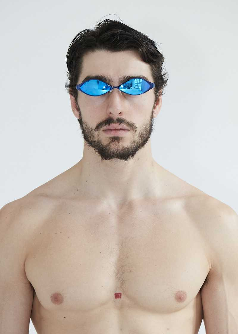 Ayni sunglasses metal blue. GmbH SS20 collection.