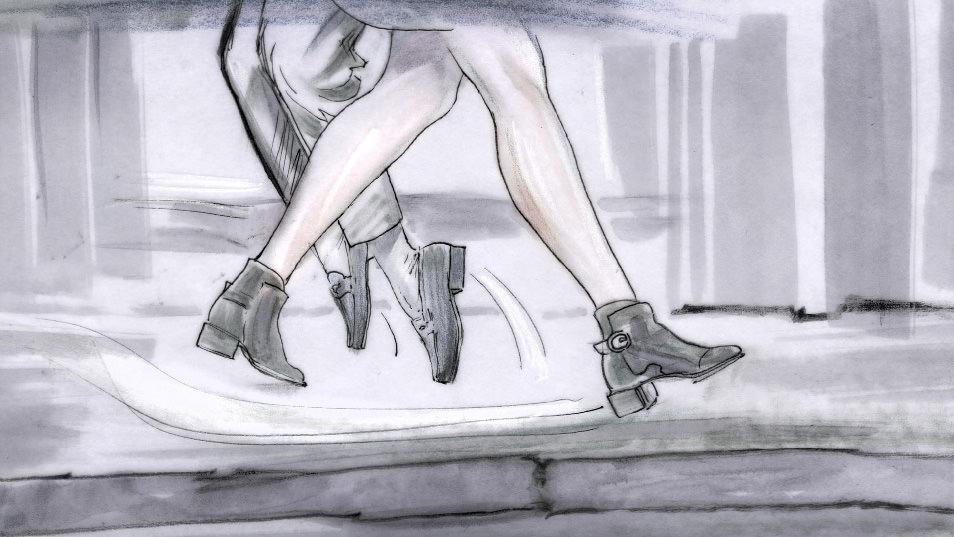 Dancing Feet Story branding pitch storyboard 011