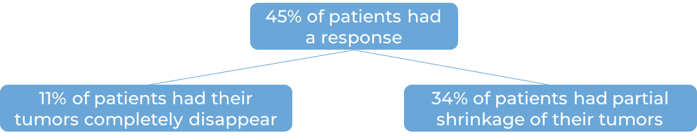 Results after being treated and then receiving Keytruda (diagram)