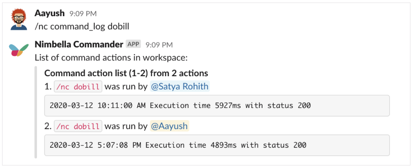 DigitalOcean bill in Slack command that allows you to see who is running the command.