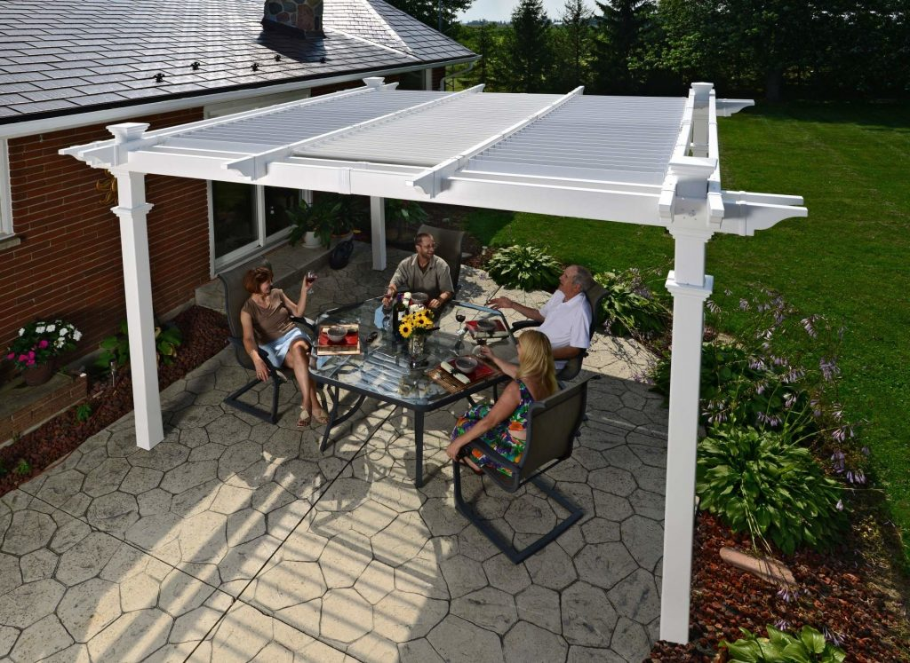 Camelot Pergola with People