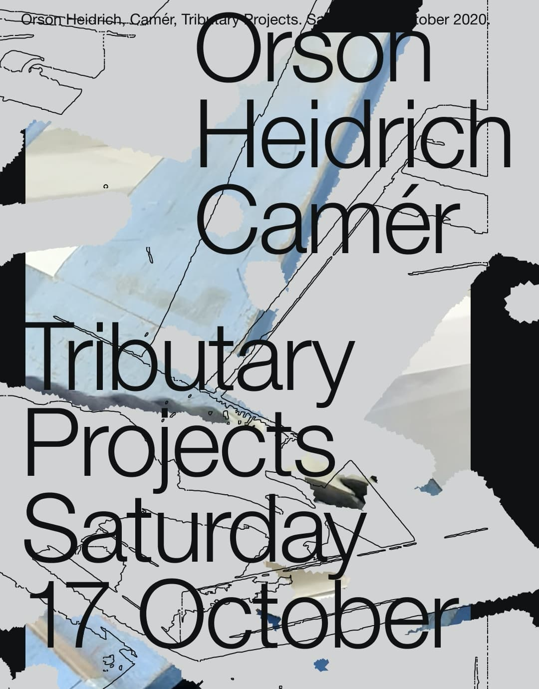 Orson Heidrich Camer digital exhibition flyer two