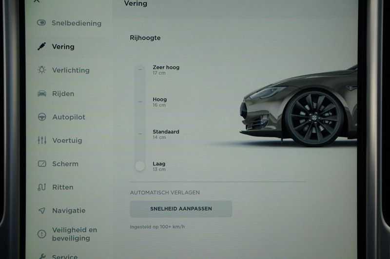 "Tesla Model S 90D Base / 422 PK / Panoramadak / Luchtvering / NL-Auto / 132dkm NAP / 21"" LMV / Leder afbeelding 14"