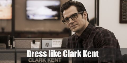 For this outfit, Clark Kent is wearing his typical reporter-style clothes but with his secret out in the open (psst, it's his Superman shirt!).