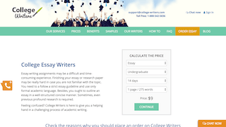 college-writers.com main page