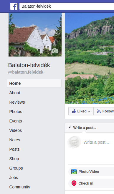 részlet a Balaton-felvidék Facebook oldaláról