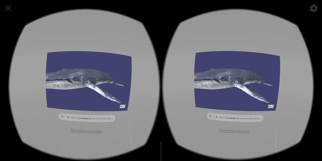 Agile Zen Whale in WebVR