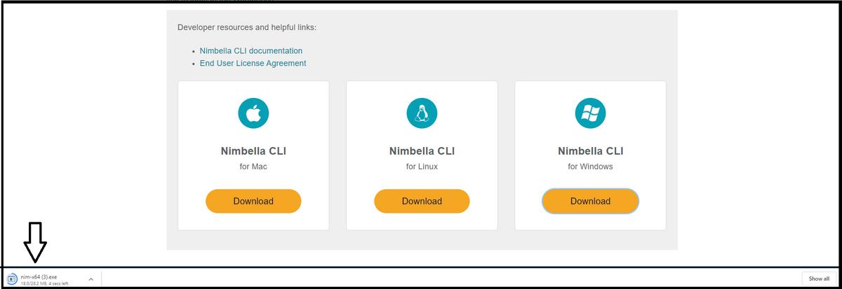 installation file Nimbella CLI