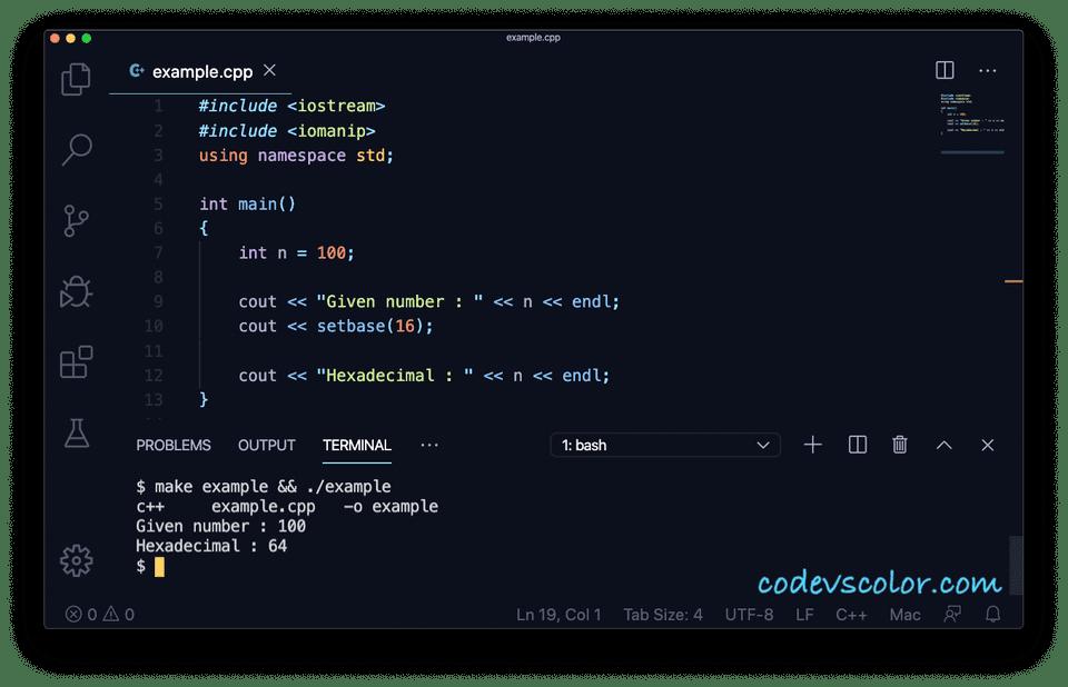 setbase C++