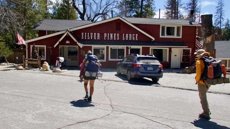 Arriving at Silver Pines Lodge in Idyllwild