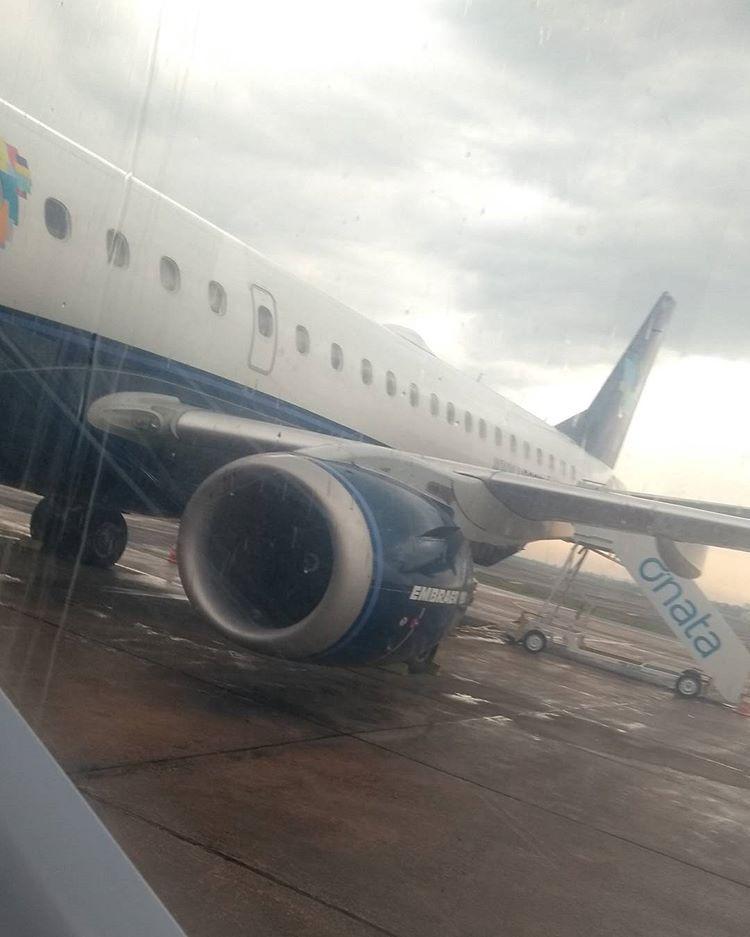 Entrando no avião