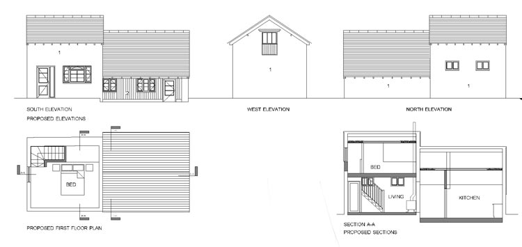 planning drawing for barn conversion