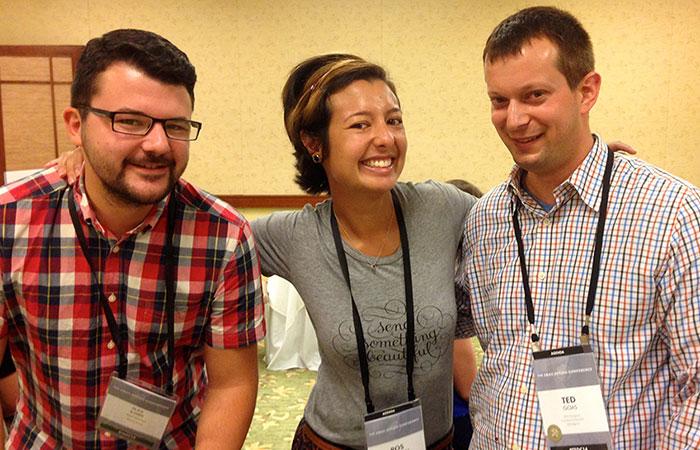 Alex Ilhan, Ros Hodgekiss, and I.