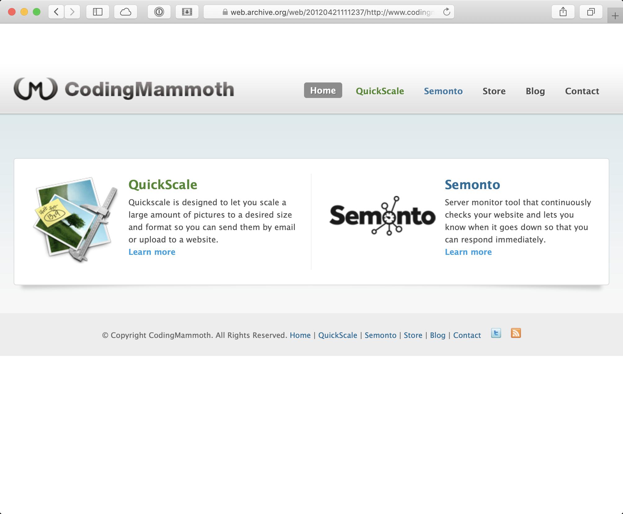 Website Coding Mammoth 2012