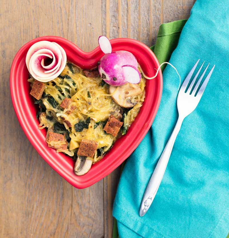 vegan spaghetti squash carbonara