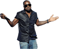 Kanye shrugging
