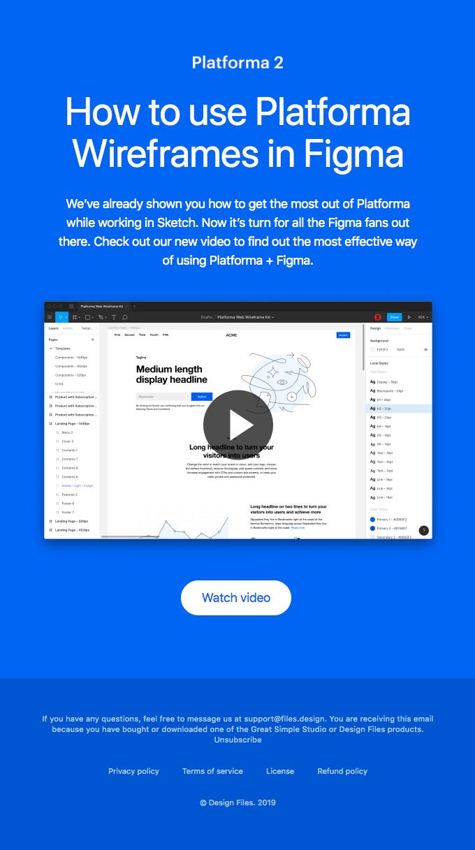 Platforma onboarding email