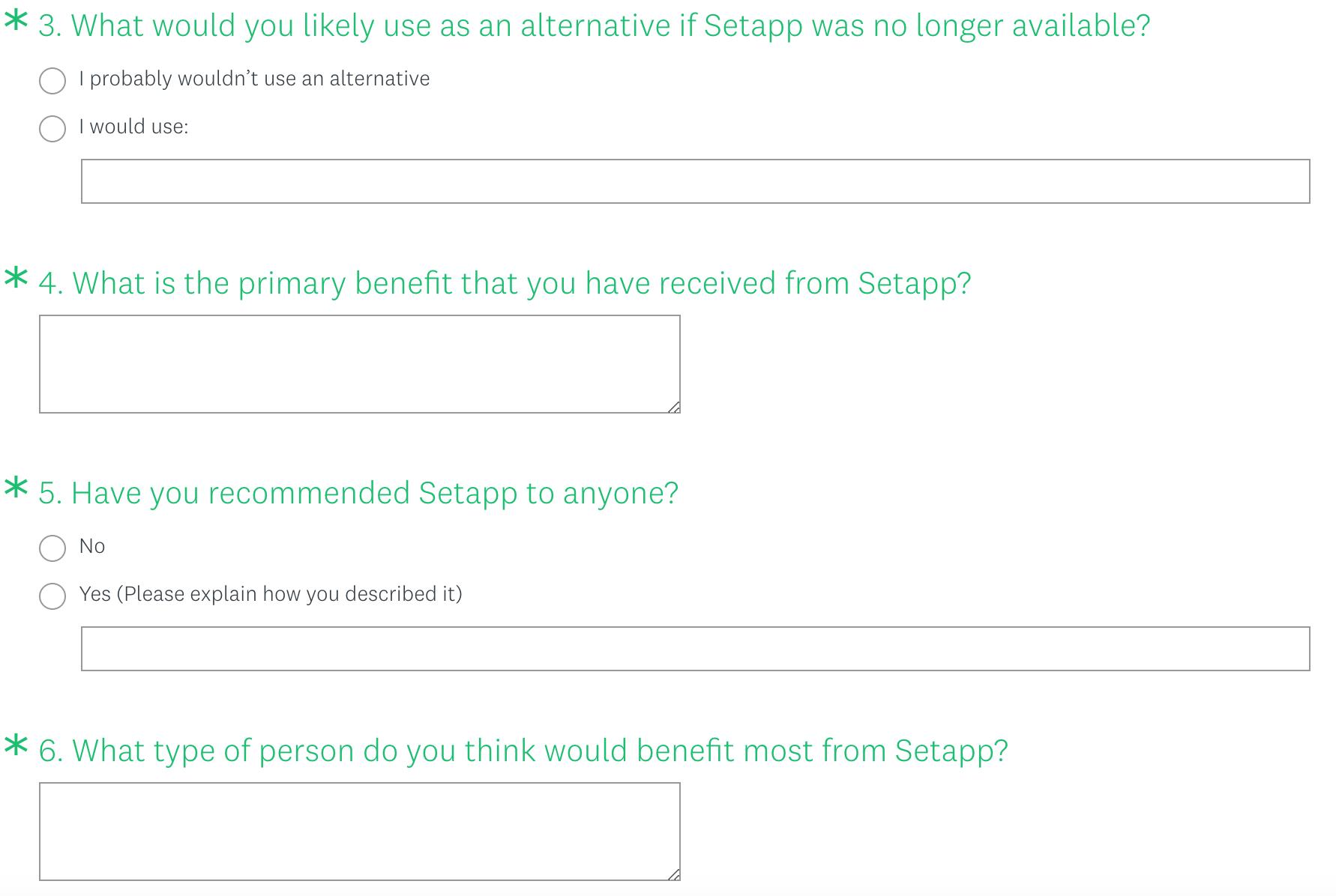 Product market fit survey part 2