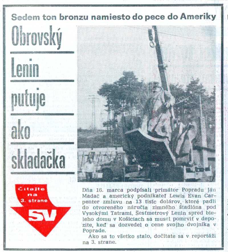 Obrovský Lenin putuje ako skladačka