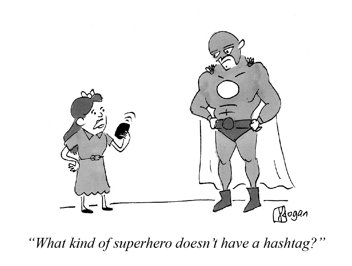What kind of superhero doesn't have a hashtag?