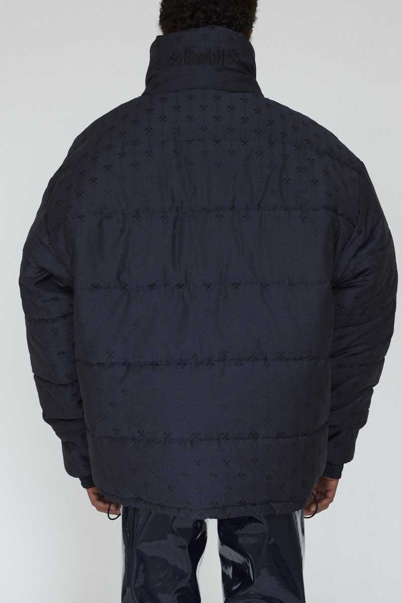DEBS GMBH AW19 PUFFER JACKET NAVY BACK
