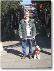 Japanese temple jinja New Year's walk