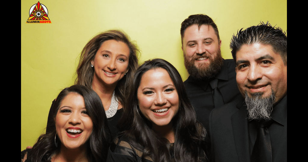 Aerin Carreno, Erika Grimm, Jackie Delgado, NZ and Rudy Martinez at the ADDY Awards event