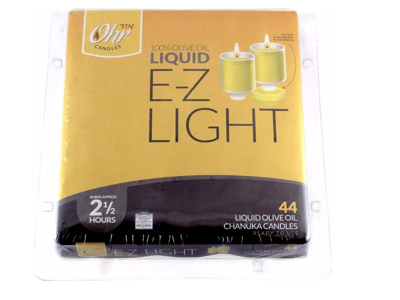 E-Z Light Liquid Olive Oil Lights 2.5 Hours (44 Pack)