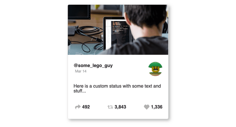 Final Social Card with Sass styles