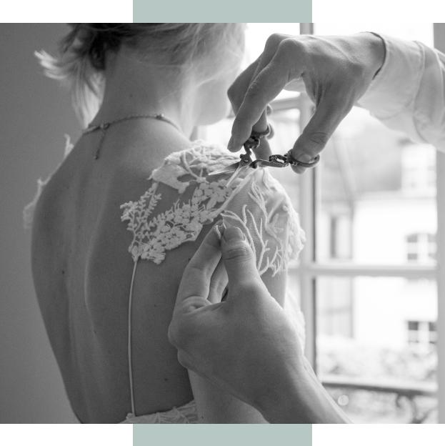 Retoucher sa robe de mariée