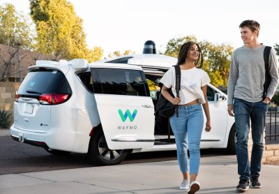An actual Waymo car, from Waymo.com