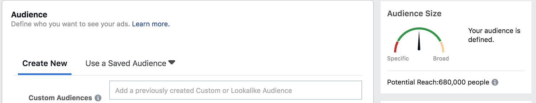 Facebook Lead Ads audience filtering