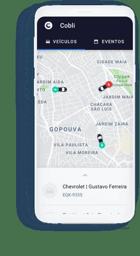 O aplicativo de rastreamento da Cobli