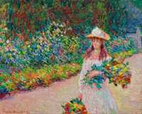 Monet's Young Girl in the Giverny Garden, sold by Christie's New York for $16.062 million in November 2018