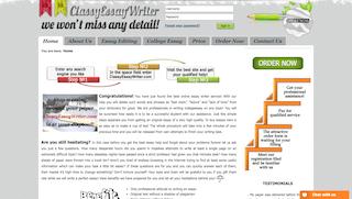 classyessaywriter.com main page